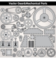 Mechanical Parts and Gears Kit vector image vector image