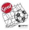 Poster design of soccer football vector image