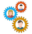 Business people and staff icons vector image