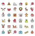 christmas holiday set of icons vector image