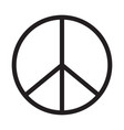 peace icon on white background peace sign vector image
