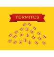 Red colony of termites flat style vector image