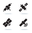 satellite and orbit communication icons isolated vector image