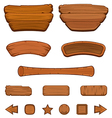 Set of cartoon wooden buttons vector image