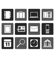 Flat Business Office and Mobile phone icons vector image vector image