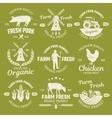 Farm Monochrome Emblems vector image