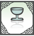Outline wine glass goblet icon Modern infographic vector image