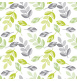 spring floral seamless pattern with leaves vector image