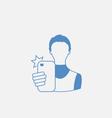 Selfie Guy on Smartphone vector image vector image