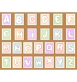 stamp alphabet vector image vector image