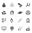 Black Science Research and Education Icons vector image vector image