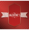 Big realistic Valentines Day Poster with Text vector image