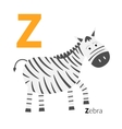 Letter Zoo alphabet English abc with animals vector image vector image