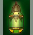 arabic lantern isolated vector image