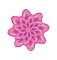 Flower icon Unusual glass chrysanthemum Floral vector image