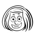 girl with happy face vector image