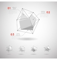 low poly polygonal geometric shapes vector image