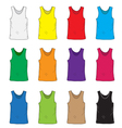 Mens t shirts design template set Multi-colored vector image