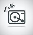 Modern media web icon Music player vector image