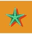 paper sticker on background of starfish vector image