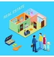 Real Estate Business Broker and Young Family vector image
