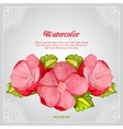 Watercolor peony invitation card with flower vector image