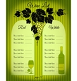 Wine list green vector image