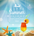 Summer holidays with lettering emblem vector image