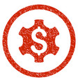 financial settings rounded grainy icon vector image