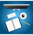 Creative workspace vector image vector image