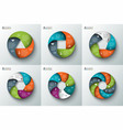 spiral circle element for infographic vector image