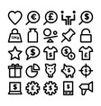 Trade Icons 5 vector image