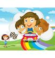 Rainbow race vector image vector image