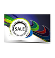 Discount card vector image