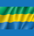 gabon realistic flag vector image