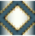 Gold Ornamental Frame Background vector image