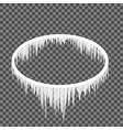 icicles hanging from an oval frame vector image