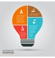 light bulb for infographic vector image