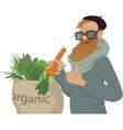 Shop local eat organic vector image