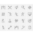 Sport sketch icon set vector image