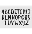 Watercolor aquarelle font type handwritten hand vector image