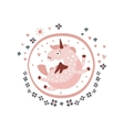 Pegasus Fairy Tale Character Girly Sticker In vector image