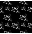 photo camera on chalkboard background vector image
