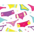 seamless pattern with colourful cute panties vector image