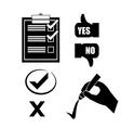 Survey design vector image