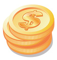 Euro coin icon vector image