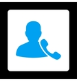 Phone Support Icon from Commerce Buttons OverColor vector image