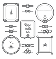 Rope Frames Black And White Set vector image