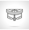 Longboard front abstract line icon vector image
