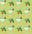 Christmas seamless pattern with glasses of vector image